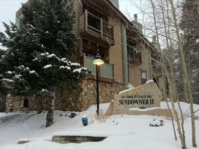 Photo for Large 2 Bedroom 2.5 Baths  Ski in - Walk to Town for Apres Ski!