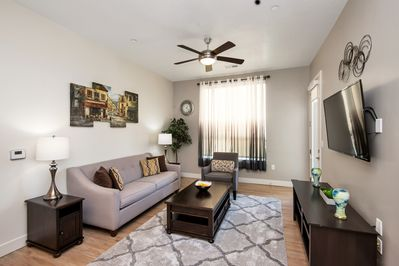 Living Room that accommodates all guests.