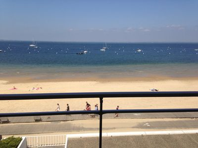 Photo for Beachfront Sea View apartment in the Summer Quarter Arcachon Aquitaine