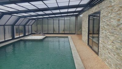 Photo for Countryside house - wildlife park - Covered heated swimming pool