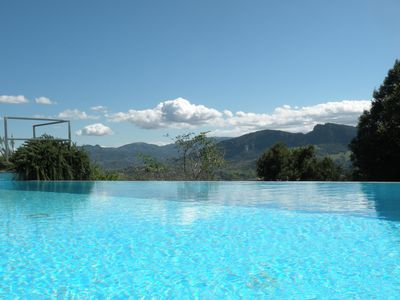 Photo for Peaceful apartments with pool in undiscovered Romagna, with stunning vistas.
