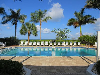 Photo for Cozy Beachfront Getaway - Estero Island Beach & Tennis Club Condo 701A - Enjoy Surf, Sand, Pool and Tennis, Walk To Restaurants