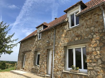 Photo for HOUSE BETWEEN SEA AND COUNTRYSIDE IN NORMANDY NEAR BEACHES OF THE LANDING