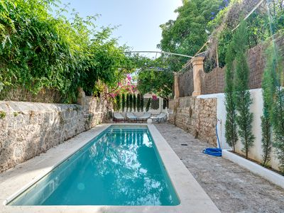 Photo for Villa located at the market hall of Sóller own parking, pool, AC,10pax