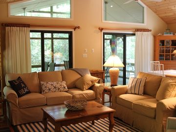 Sleeps 11; Clean, Quiet Beach House on a Wooded Lot