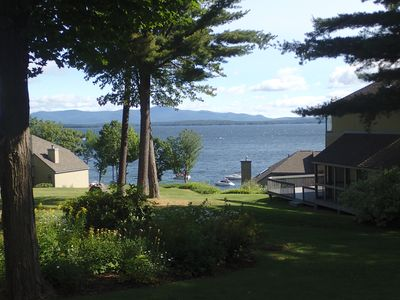 Another view of Lake Winnipesaukee from the deck.