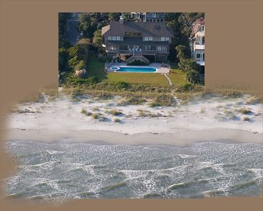 100' oceanfront, 44' pool huge deck,  all rooms w/view. See 4, 5  or 6 BDR rates