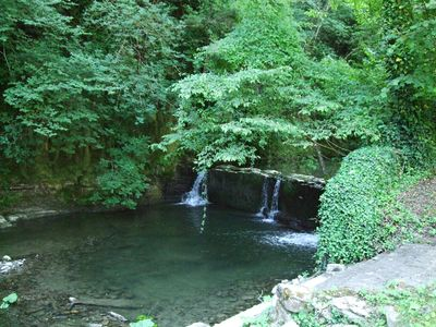 Photo for ancient restored mole with natutal pool in the river