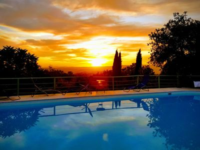 Photo for Country house with swimming pool and view to the sea 6km from the Terme di Saturnia