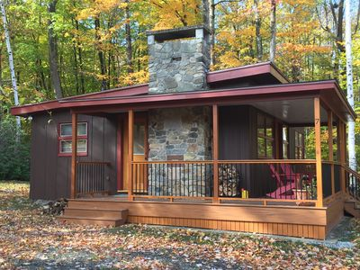 Photo for Charming, Bucolic Cabin Set Among Trees with Boat Slip & Access to Squam Lake