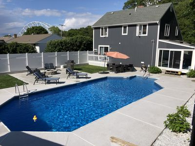 Photo for Sagamore House with a large inground pool. Sleeps 10 comfortably!