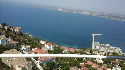 Photo for Appt in villa panoramic sea view 180 °, clim., Swimming pool