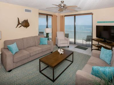 Photo for 10th floor Gulf-front | In/Outdoor pools, Hot tub, Sauna, Fitness | Free golf, fishing, OWA tickets