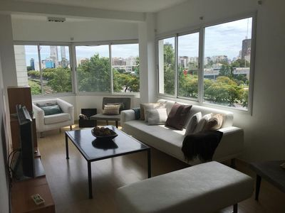 Living Area with full view to the city