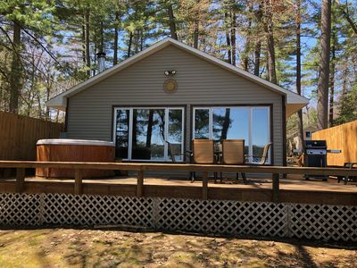 Photo for Serenity Beach Haus w/outdoor hot tub on Otsego Lake & Sandy Beach, A/C, Wi-fi!