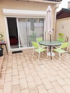 Photo for APPART in peace with TERRACE and private PARKING. NIMES Paloma / A9 at 2min