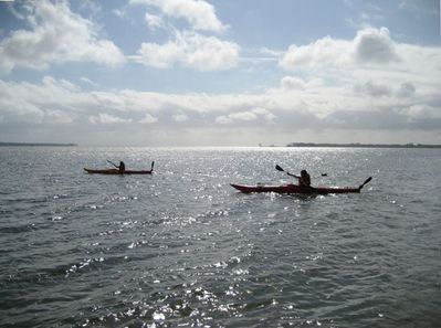 Morning Kayak Infront of Wareloch with Kayaks Provided for Guests