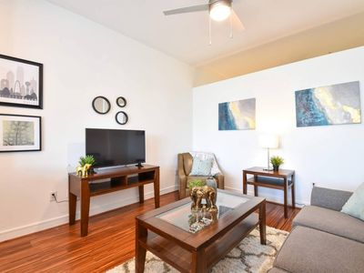Photo for Airy + Bright 1br Loft | Balcony + Parking + Pool
