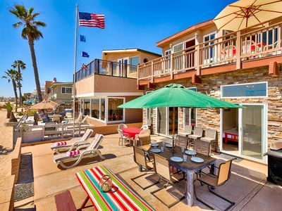 Photo for 25% OFF SEP -Perfect Beach Home ON the SAND, Large Patio, Endless Ocean Views