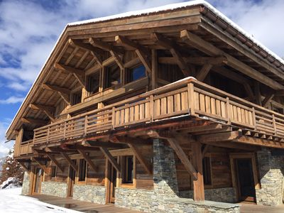 Photo for New chalet exceptional rated 5 *, conveniently located only Contamines