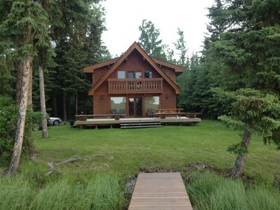 Photo for Beautiful Lakefront Cabin on a quiet Sheridan Lake bay