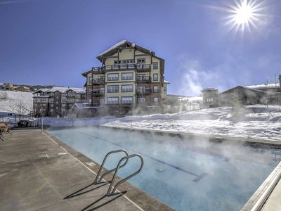 Photo for NEW-Ski-in/Ski-Out Granby Resort Condo w/Fireplace