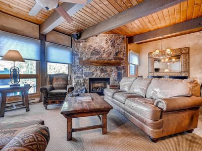 Photo for Gorgeous mountain condo near trails w/ a shared pool, hot tubs, & gas grills