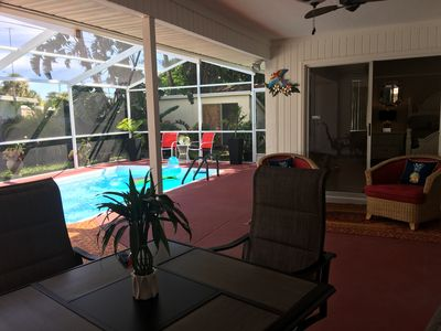 Photo for NEW LOWER RATES!  3 BR VACATION HOME WITH HEATED POOL,  PRIVATE BEACH