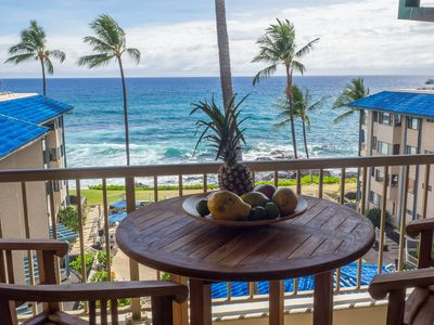 Photo for Panoramic Views! Oceanfront 1BR/1BA in Kona Reef. Fast WiFi and Central AC!