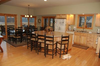 Kitchen with plenty of seating & space to gather
