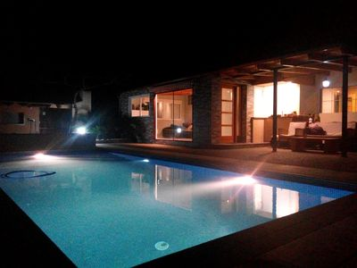 Photo for Expanded House 700m from the beach with large private pool HUTB-007930