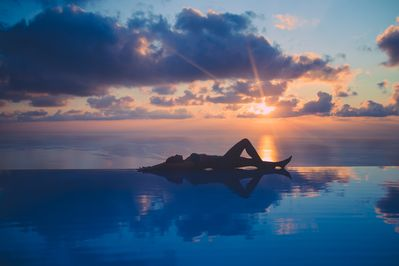 Beachside infinity pool that will take your breath away!  A view you won't foget