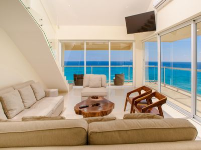 New Oceanfront PH on Cancun Beach w/Amazing View! Steps to Beach & Nightlife