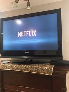 smart tv. with blue ray dvd. tv cable not included.