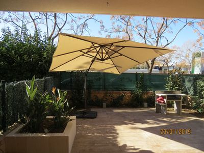Photo for In Salou, Apartment with garden, pool, air conditioning. Fabulous!