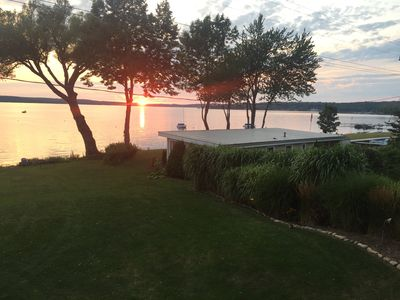 Photo for Private Cottage on 80 Feet of Prime Lakefront-Stunning Sunsets.