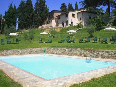 Photo for Winery, holiday complex, swimming pool in the heart of Tuscany. Pino