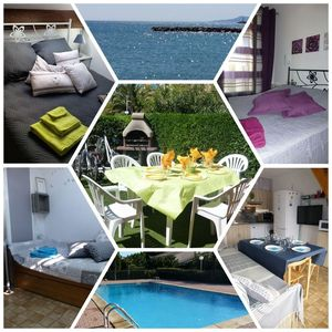 Photo for Duplex 6 pers Swimming pool, Sea, Bicycles, Parking, Large outdoor, Terrace, any comfort.