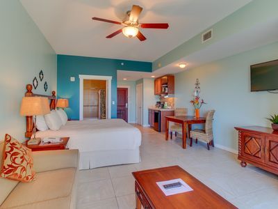 Photo for Shared pool & hot tub, across the street from the beach, great for couples!