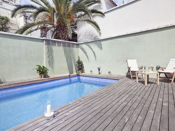 Private Terrace & Swimming Pool in Gràcia, in CITY CENTRE! For 10 Free Wi-Fi!