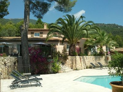 Photo for In Tourettes-sur-Loup, charming gite with infinity pool