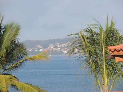 View of La Cruz from our deck and plunge pool