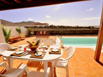 Photo for Villa JAGRAN in Playa Blanca for 6 persons with pool, terrace, garden, WIFI on the go and less than 600m to the sea