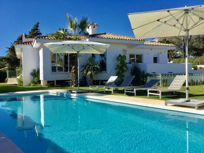 Photo for Beautiful Beach Villa Marbella for 10 with large garden & pool