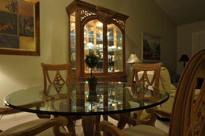 Eat in luxury in the elegant dining area