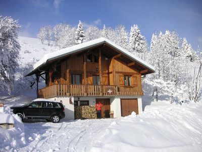 Photo for Detached chalet, located at a place called La Combe, close to shops and ski slopes of Perrières.