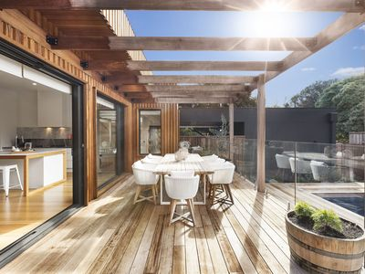 Photo for Stunning private holiday house, modern luxe interior, with pool, WiFi, Foxtel, PS3, Cooling, Heating