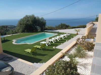 Photo for Superb new villa with sea view pool + spa luxury up to 21 people