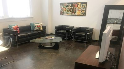 Photo for Spacious, modern art-filled loft, 5 min walk to French Quarter, 2br/2ba