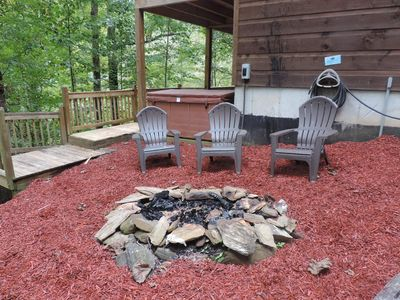 Photo for 6 Bedroom Cabin on the River with Game Room, Hot Tub, WiFi, Fire Pit Fire Place